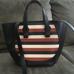 Victoria Beckham Striped Leather Tote Bag No.118